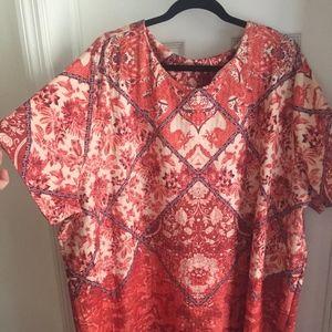 ASOS Curve Geometric Dress Coral Dress Size 24